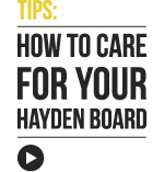 How to care for your Hayden Surfboard
